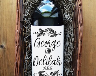 Personalized Wine Label - Custom Wine Label - Pack of 4 Labels