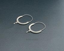 ON SALE 925 Silver Earrings, Dubrovnik Earrings, Filigree Hoop Earrings, Croatian Filigree Earrings, Bridal Earrings, Vintage Earring, Medit
