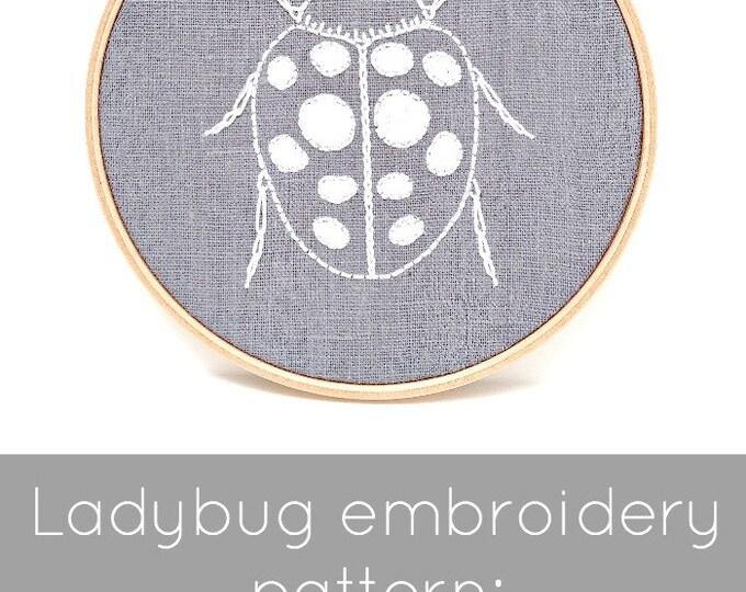 Ladybug Embroidery Pattern - Digital Download