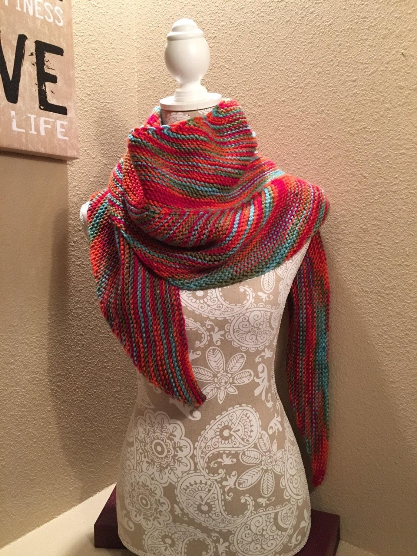 Knitting Paradise Machine Knitting : Bird of paradise shawl a loom knit pattern