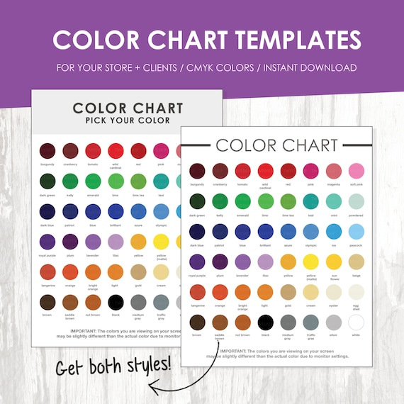 Color Chart Template Color Chart Color Chart Template Color Palette