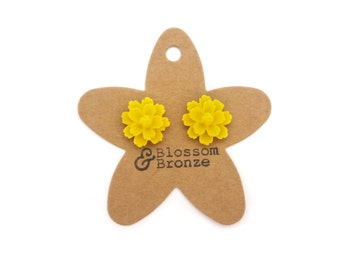 Yellow Flower Studs | Studded Earrings