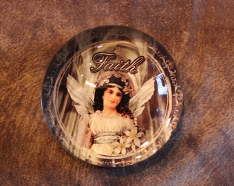 Vintage Angel FAITH Paperweight