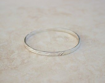 Silver Bangle Hammered Bracelet, Argentium Bangle, Silver Bangle, Bangle Sets, Handforged Silver Bangle