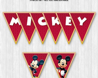 Mickey Mouse Pennant Banners
