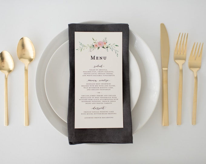 violet wedding menus (sets of 10)  // lola louie paperie