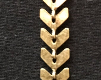 Antiqued bronze chain