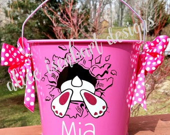 Personalized Easter Bucket/Down the Rabbit Hole Easter Bucket