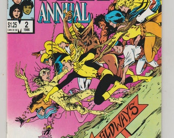 New Mutants; Vol 1, Annual 2 Copper Age Comic Book.  NM- (9.2). Oct 1986.  Marvel Comics