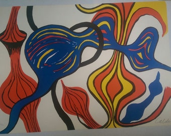 ALEXADER CALDER LITHOGRAPH signed and niumbered 52/90