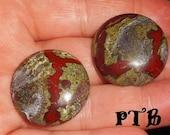 Mind/Body/Spirit ~ Authentic Natural Dragon Blood Jasper (Australia) Pocket Palm Solid 30mm Round Gemstone