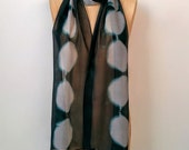 Silk Scarf Wife Gift, Fast Shipping Gift for Her, Mom Gift, Girlfriend Gift, Long Scarf for Her, Shibori, Unique Gift Scarf, Silk Chiffon