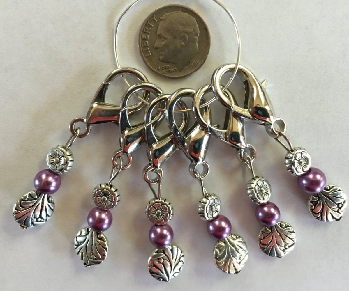 Knitting Markers Etsy : Knitting or corcheting stitch markers from