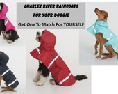 DOGGIE Charles River Jacket / Personalized/ Matches Adult Raincoats