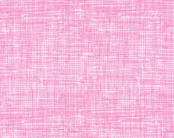 Candy Pink Fabric, Timeless Treasures Fun C8224 Candy Sketch Basic, Hot Pink Crosshatch Fabric, Pink Quilt Blender Fabric, Cotton Fabric