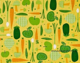 Cultivate & Cook, Robert Kaufman 14457, Kitchen Fabric, Food Fabric, Garden Vegetables Fabric, Cooking Apron Fabric, Pink Light Design, Sale