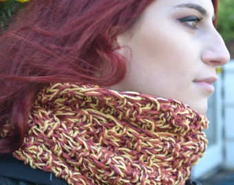 Hand Knit Loop Scarf - Saturday Afternoon