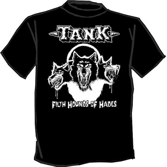 Tank silk screened t shirt nwobhm motorhead for Silk screen t shirt