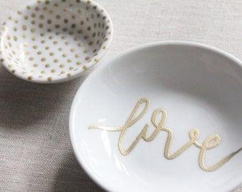 jewelry trinket dish // love