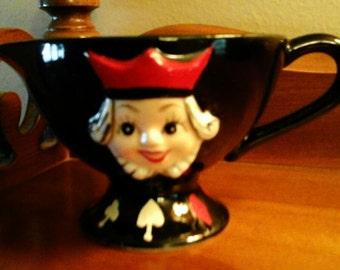 Vintage Cream Pitcher - Queen of Hearts - Alice in Wonderland