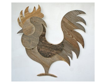 Rooster - Reclaimed Pallet Wood