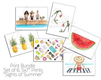 "Print Bundle ""Sights of Summer"" , 5x7"" Prints (Set of 6)"