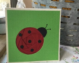 Lady Bug Iris Folding Card