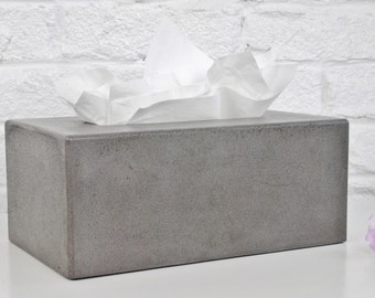 Concrete Tissue Box Cover / Kleenex Tissue Box Cover / Rectangular Tissue Box Cover