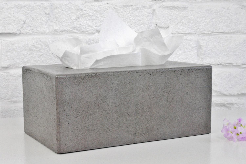 Concrete Tissue Box Cover    Kleenex Tissue Box Cover By