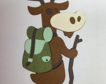 Backpacking Moose Die Cut