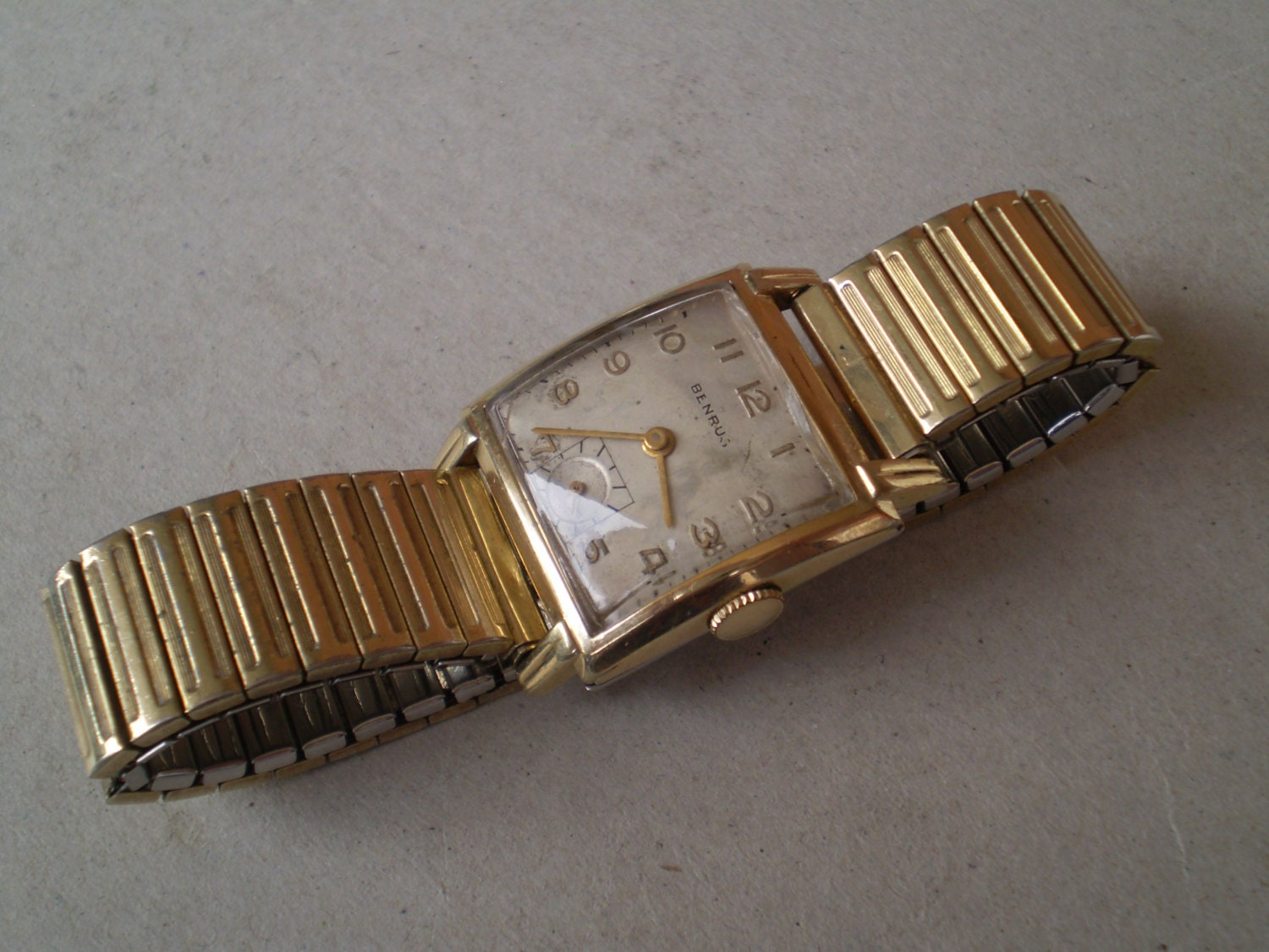 1930's Benrus wristwatch 10k rolled gold plated watch