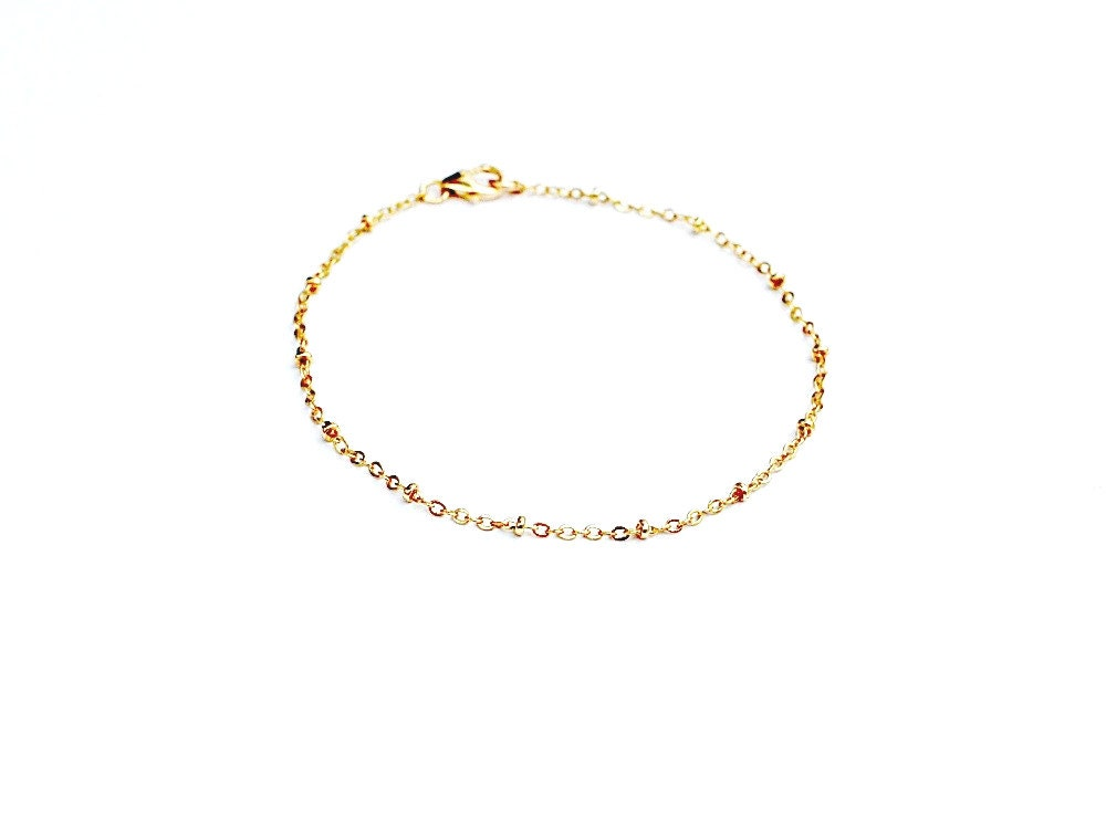 Gold Satellite Chain Bracelet Delicate Bracelet Simple Gold