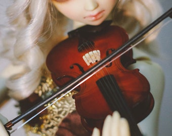 bjd doll Instrument ,1/3 1/4 1/6 doll Violin for SD13 SD17, toy,art, miniature violin, type for volks sd17 sd13 sd10 dollfiedream,leeke