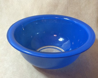 Blue Clear Bottom Pyrex Mixing/Nesting Bowl