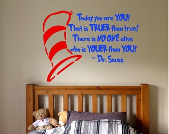 Vinyl Dr. Suess Quote, Dr. Suess Kids Room Decal, Dr. Suess Vinyl Decal
