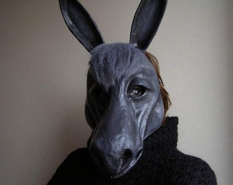 Halloween mask Masquerade mask Donkey mask Animal mask Donkey head Donkey costume Paper mache Donkey Paper mache mask