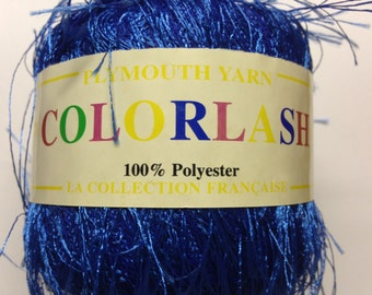 Plymouth Collection Francaise's Colorlash lightweight, eyelash novelty yarn (32 Blue)