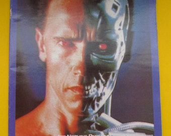 Vintage sticker album Terminator 2 & Robocop.Greek Carousel album.New and Empty.1980's album.2 in 1