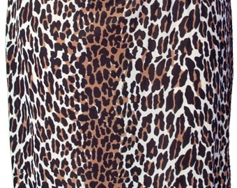1960 Skirt Slip Tarzan Jane Retro Pin Up Leopard Animal Print Circus Costume Cave Woman Burning Man Bam Bam Pebbles Flintstones Betty Rubble