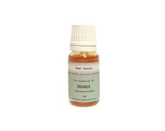 Organic Orange Essential Oil | 100% Organic Essential Oil Natural | Unrefined Coldpressed | Vegan Friendly | Cruelty Free | 10ml