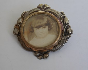 antique brooch has new art photo