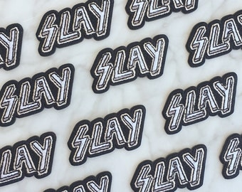 SLAY Patch - Iron On, Embroidered Applique