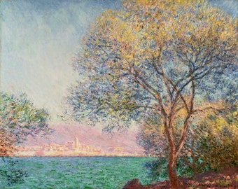 Antibes In The Morning by Claude Monet, in various sizes, Giclee Canvas Print