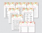 Floral Baby Shower Games ...