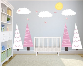 Tree Wall Decals, Wall Decals Nursery, Kids Wall Decal, Nursery Wall Decal, Baby Wall Decal, Non Toxic, REMOVABLE REUSABLE
