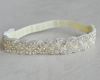 Bridal Garter  Crystal Garter  Wedding Garter  Ivory, Vintage Wedding  Lace Garter Crystal Rhinestone Garter and Toss Garter Set