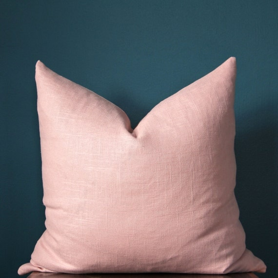Blush Pink Pillow Cover Rose Quartz Pillow Cover By Theposhrobin