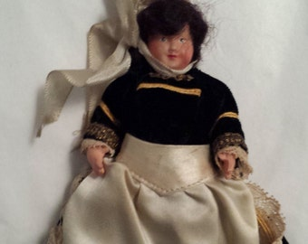 Vintage doll, national costume doll, Brittany costume doll, collectable, traditional costume doll, French souvenir