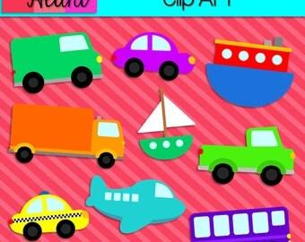 On The Go - Transportation Clip Art