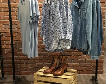 "Clothing Rack 48"" Wide - Retail Clothing Display - Clothing Storage - Heavy Duty Garment Rack"